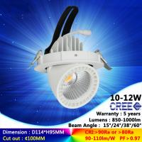 3000K 10W 12W ac230v recessed spotlight cree COB downlight with high quality good price Manufactures