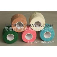 2 Inch Colored Cohesive Cotton Elastic Bandage For Healthcare , High tensile strength Manufactures