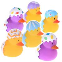Broken Egg Colorful Small Christmas Rubber Duck Promotional Gift OEM Pattern Manufactures