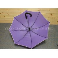 Quality Windproof Auto Open Curved Handle Umbrella  Fiberglass Frame Aluminum Shaft for sale