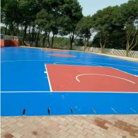 Tennis / Badminton Court Polyurethane Sports Flooring Anti Static Thick Material Manufactures