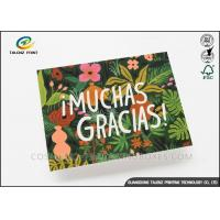 Colorful Paper Greeting Cards Green Plant Printing With Voice Recording Module Manufactures