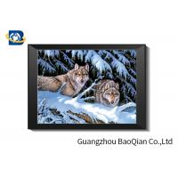 Wolf 5D Lenticular Picture , 3D Deep Effect Lenticular Image Printing Manufactures