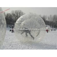 Quality Clear TPU Snow Inflatable Zorb Ball Funny , Body Zorbing Bubble Ball for sale