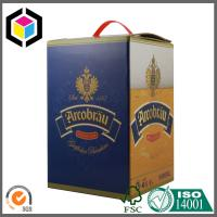 CMYK Matte Color Printed Wine Packaging Box; Plastic Handle Wine Corrugated Box Manufactures