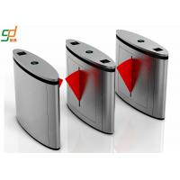 Stainless Steel Flap Barrier Gate Optical Turnstile, Rfid Reader Security Turnstiles Manufactures