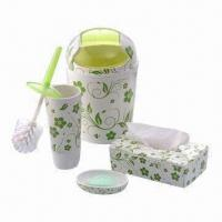 Bathroom Set, Made of Melamine, for Promotional and Gift Purposes, Customized Designs are Accepted Manufactures