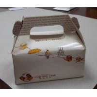 White Food Cardboard Carry Boxes For Cake, Bread, Hamburger Packaging Manufactures