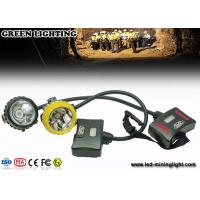 28000lux Led 12Ah IP68 Waterproof Coal Miner Cap Lights With Two Color Head Housing Manufactures