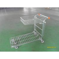Supermarket Warehouse Trolley cart with square steel tube base and logo on handle Manufactures
