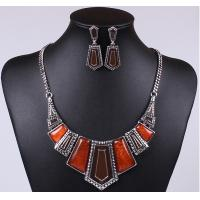 Hot new imitation stone resin plus drip Necklace with earrings Manufactures