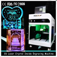 3D Crystal Laser Inner Engraving Machine 2000HZ speed 120,000 dots / Minute Manufactures