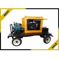 Rainproof Trailer Diesel Engine Water Pump With 24 KW Engine Water Cooling Manufactures