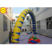 Airblown Giant Yellow / Blue PVC Inflatable Arch 13 ft - 50 ft Wide Inflatable Archway Manufactures