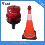4LED Sensor Lighting Road Barricade Light Solar LED Warning Light for Traffic Cone Manufactures