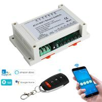 4 Way Mobile Phone WiFi RF Relay Smart Switch With Amazon Alexa Google Home Voice Remote Control Manufactures
