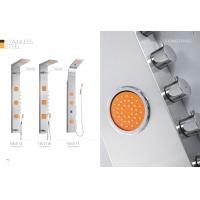 Quality Professional Stainless Steel Shower Panel With Adjustable Orange Massage Jets for sale