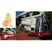 customized 11m3 hydraulic chicken feed pellet transported truck for Philippines, bottom price dongfeng 11m3 feed truck Manufactures