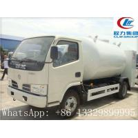 dongfeng brand 95hp 4*2 LHD/RHD 5500L LPG GAS Dispensing Truck, mobile selling cooking gas propane filling truck Manufactures