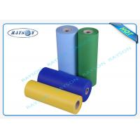 Single S PP Spunbond Non Woven Polypropylene Fabric For Sofa , Green / Blue Manufactures
