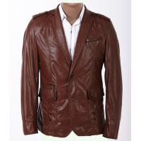 100% Viscose and Knitting, Black / Dark Red Fashion Mens Leather Blazers for Charm Men Manufactures