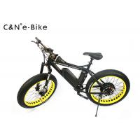 China 48V 1000W Fat Wheel Electric Snow Bike , 125KG Loading Motorized Fat Tire Bicycle on sale
