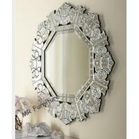 Decorative Vintage Venetian Mirror , Etching Antique Venetian Glass Mirror Manufactures