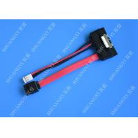 SATA (7+15) 22Pin Male To 7Pin Male with 4PIN Molex 4Inches Power Cable Manufactures