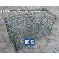 Buy cheap Hexagonal Mesh PVC Gabions , Welded Coated Galvanized Gabion Baskets from wholesalers