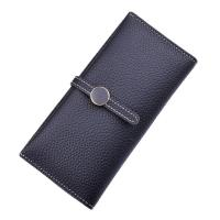 Women PU Leather Money Clip Wallet Durable Hardware Buckle With Polyester Lining Material Manufactures