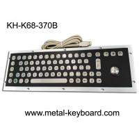 China Stable Performance Industrial Metal Computer Keyboard , Well Compatible Trackball Keyboard on sale