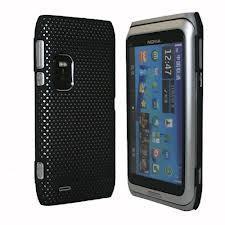 Hard Rubber Mesh Case Cover Skin for Nokia E7 Manufactures