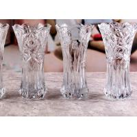 Stock Flower Decorative Glass Vases / Transparent Small Coloured Glass Vases Manufactures