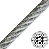 7x7 Vinyl Coated Steel Cable , Type Ss 302/304 stainless steel wire rope Manufactures