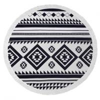 Quality Bohemian Style Round Beach Towel , 100% Cotton Terry Velour Round Towel for sale