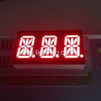 Triple Digit  14 Segment LED Display 0.54 Inch Super Red For Temperature Control Manufactures