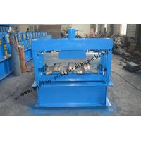Galvanized Steel Floor Deck Roll Forming Machine With Coiler Car ,  Floor Tile Making Machine Manufactures