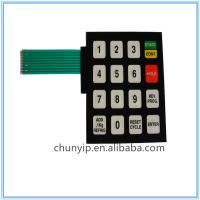 China digital membrane keypad switch with pet circuit on sale