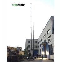 China 18m lockable pneumatic telescoping mast 70kg payloads Nrentech-telescopic mast for mobile telecommunication tower on sale