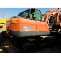 Used Low Rate 6 Ton Doosan DX60 Wheel Excavator 0.3m3 Bucket CE / ISO9001 Manufactures
