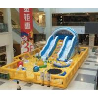 Commercial indoor Shopping malls used new design inflatable Ball pit with slide for kids Manufactures