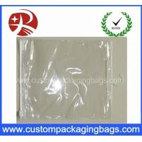 Slider Zipper Plastic Clear PVC Hook Bag for Clothing / Underwear Packing Manufactures