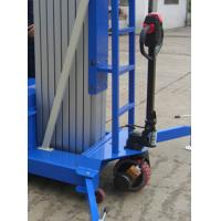 Electrical Pulling Device Aerial Work Platform Aluminum Type With Lifting Height 14m Quadruple Mast 300Kg Manufactures