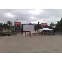 PVC Tarpaulin Outdoor Inflatable Movie Screen With Airtight System Manufactures