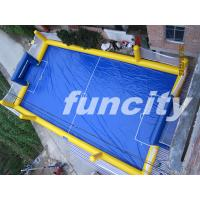 Waterproof Adults Blue Inflatable Water Soccer Field Fire Retardant Manufactures