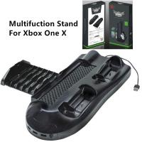 China 5 in 1 Multifunction Cooling Fan Vertical Stand Controller Charger Station Disc Storage USB Hub for Xbox One X on sale