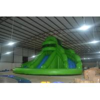 Green Inflatable Sports Games Giant Slide 0.55mm PVC Tarpaulin Manufactures
