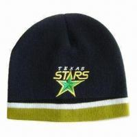 Men's Hat, Made of Acrylic, Available with Embroidery Logo, Suitable for Promotional Purposes Manufactures