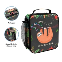 Cute Sloth Insulated Lunch Cooler Bags For Girls Manufactures
