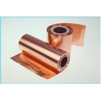 Red 12um Thin Lithium Ion Battery Copper Foil , RoHS Approval Copper Metal Sheets Manufactures